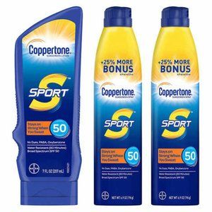 Coppertone Sport Sunscreen SPF 50 Spray and Lotion